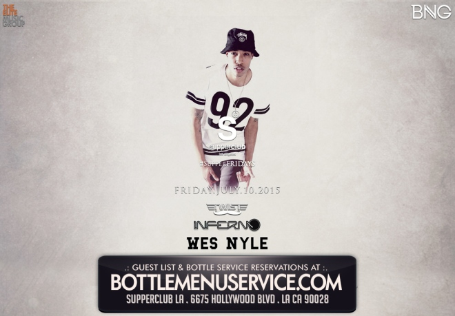 Supperclub LA Friday July 10th 2015