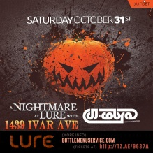 Lure Halloween Hollywood 2015