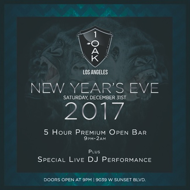 1 OAK LA New Years Tickets
