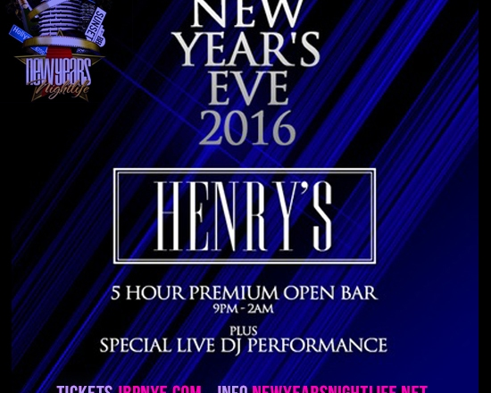 2016 Hooray Henrys NYE