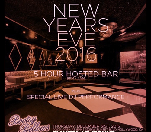 Bootsy Bellows 2016