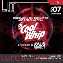 Lure Hollywood Saturday November 7