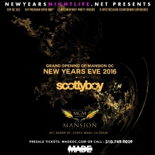 Mansion Costa Mesa NYE 2016
