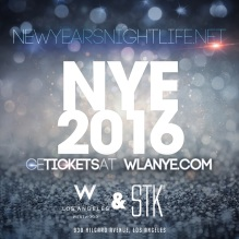 W Los Angeles New Years Open Bar Tickets