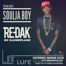 Lure Nightclub Saturday March 26
