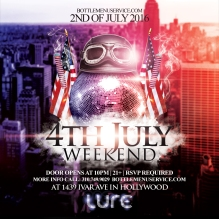 Lure Nightclub July 4th Weekend Saturday 2016