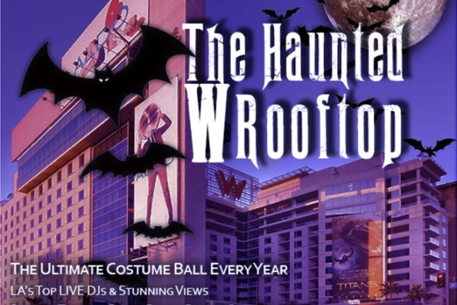 Haunted W Hollywood Rooftop Halloween
