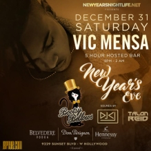 Bootsy Bellows NYE New Years Tickets